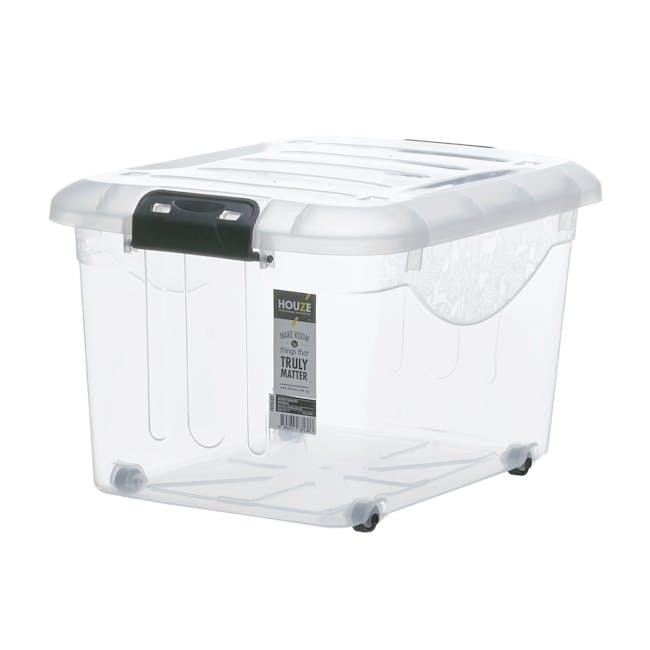 30L Motif Storage Box with Wheels - 0