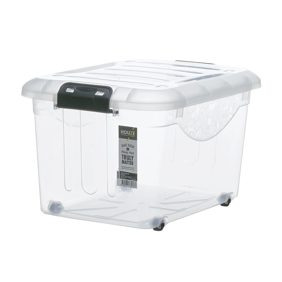 Houze - 30L Motif Storage Box with Wheels