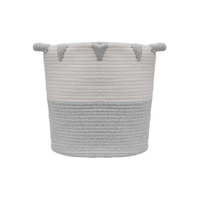 Lucia Rope Storage Basket - Grey - 0