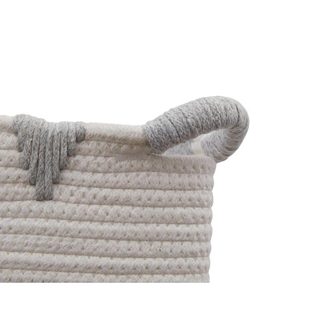 Lucia Rope Storage Basket - Grey - 1