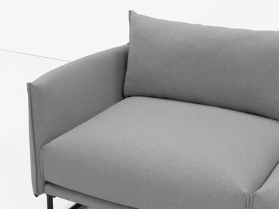 Frank 3 Seater Sofa - Slate, Down Feathers - Image 2