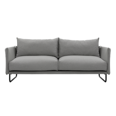Frank 3 Seater Sofa - Slate, Down Feathers - Image 1