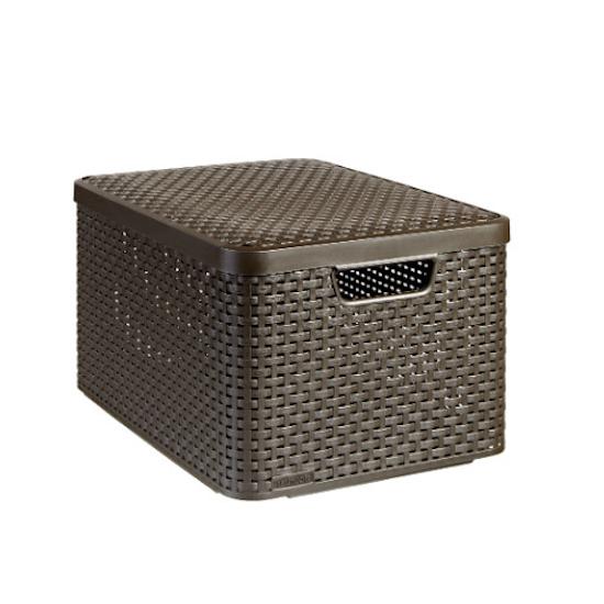 Curver - Style Box V2 + Lid - Dark Brown