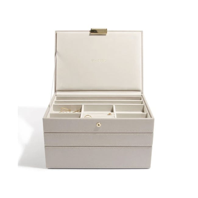 Stackers 3-in-1 Classic Jewellery Box - Taupe - 0