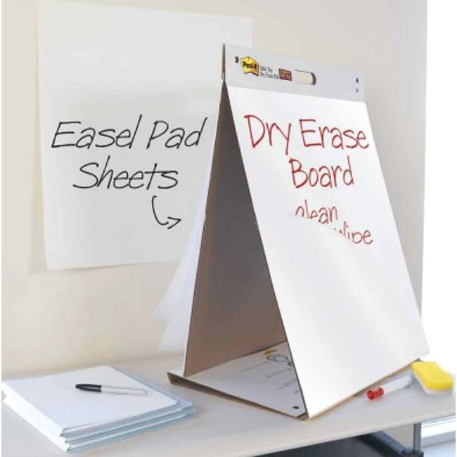 Post-it® Super Sticky Table Top Easel Pad with Dry Erase - 2