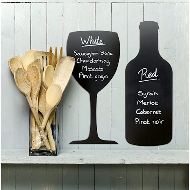 Securit Wineglass-Shaped Chalkboard - 1