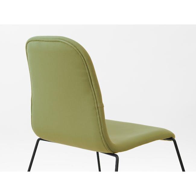 Ava Dining Chair - Matt Black, Oasis - 1