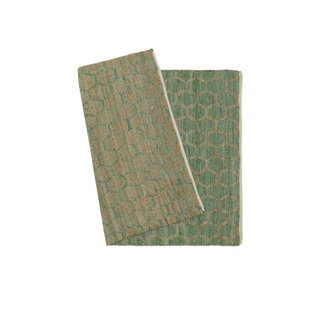 Summer Jute Rug 1.7m x 1.2m - Green - 2