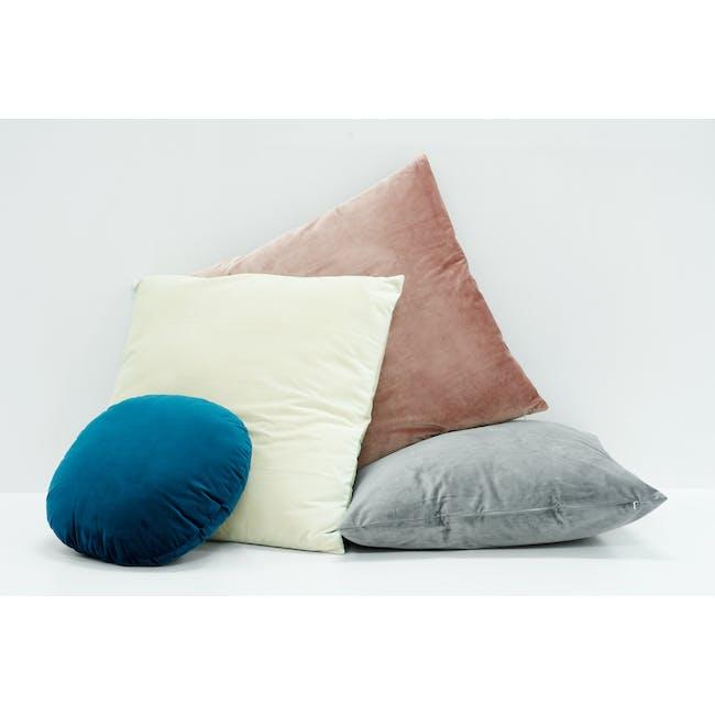 Tammy Large Velvet Cushion - Ivory - 2