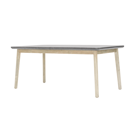 HipVan Bundles - Hendrix Dining Table 1.8m with Hendrix Bench 1.5m and 2 Hendrix Dining Chairs
