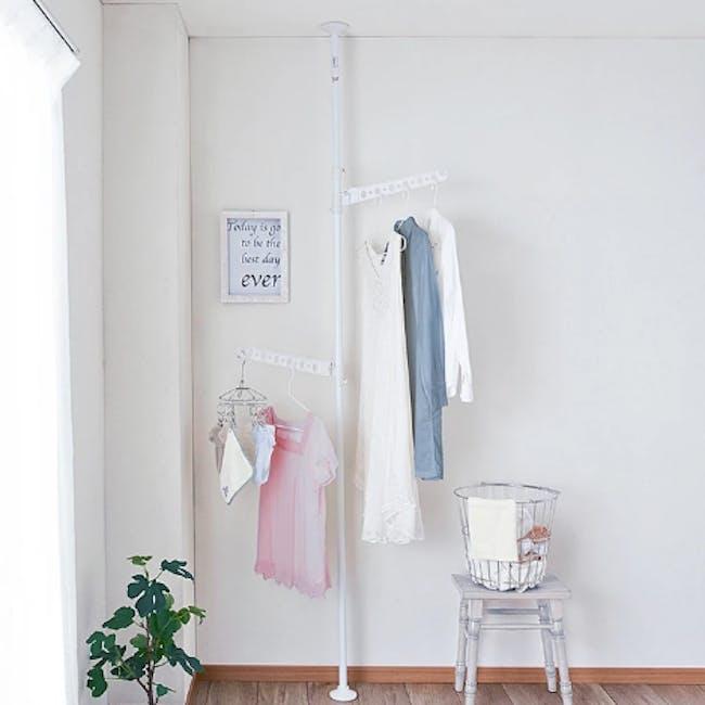 HEIAN Laundry Hanger Standing Pole Rack - White - 1