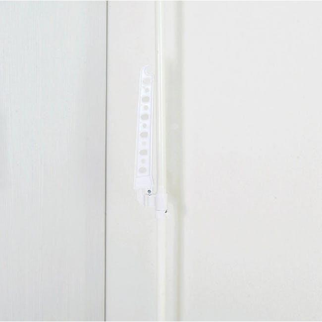 HEIAN Laundry Hanger Standing Pole Rack - White - 3