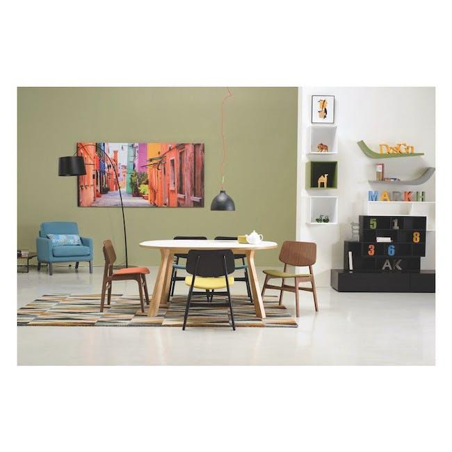 Margo Fabric Seat Dining Chair - Black, Pistachio - 1