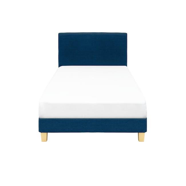 ESSENTIALS Super Single Headboard Divan Bed - Denim (Fabric) - 0