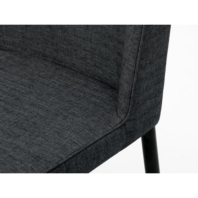 (As-is) Jake Dining Chair - Black, Carbon - 9 - 11