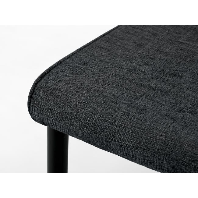 Paco Dining Table 1.2m in Cocoa with 4 Jake Dining Chairs in Carbon - 8