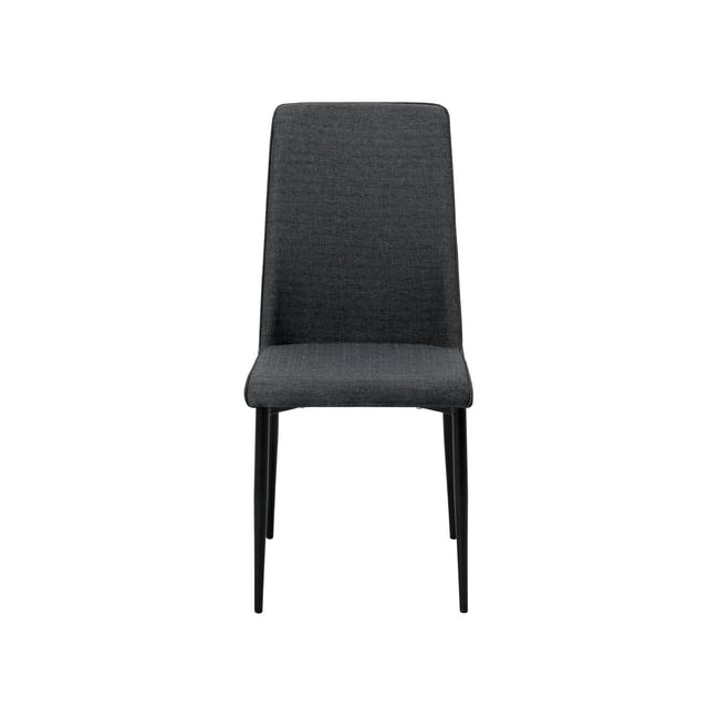 Paco Dining Table 1.2m in Cocoa with 4 Jake Dining Chairs in Carbon - 4