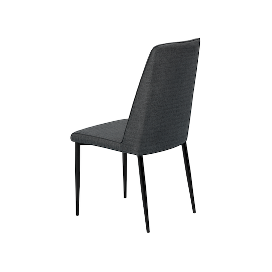 Glass and Metal - Jake Dining Chair - Black, Carbon