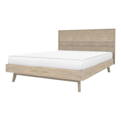 Leland King Bed with 2 Leland Single Drawer Bedside Tables - Image 2