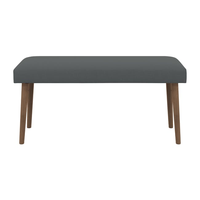 Ralph Dining Table 1.2m in Cocoa with 2 Miranda Benches in Onyx Grey - 4