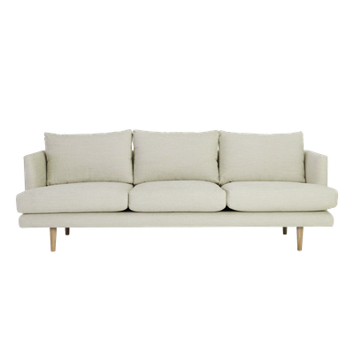 Duster 3 Seater Sofa - Almond - Image 1