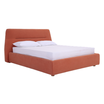 Telly Queen Bed - Persimmon (Fabric) - Image 1