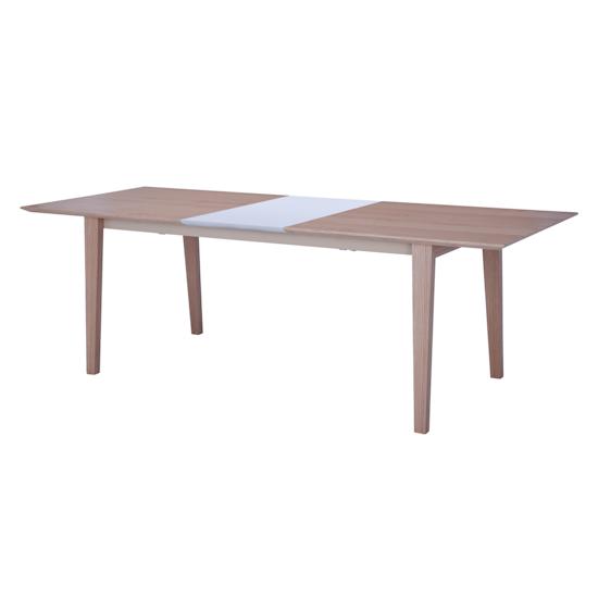 Laholm - Kiros Extendable Dining Table 1.8m - Oak, White