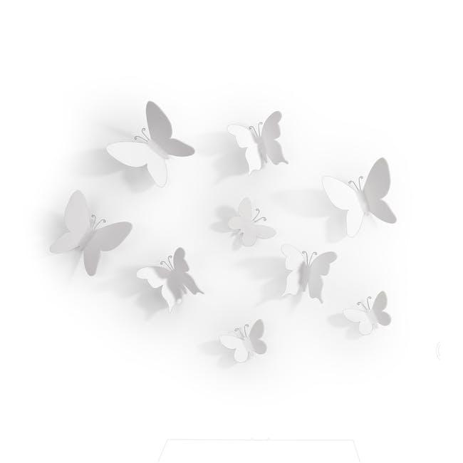 Mariposa Butterflies Wall Decor (Set of 9) - 1