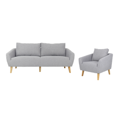 Hana 3 Seater Sofa with Hana Armchair - Image 1