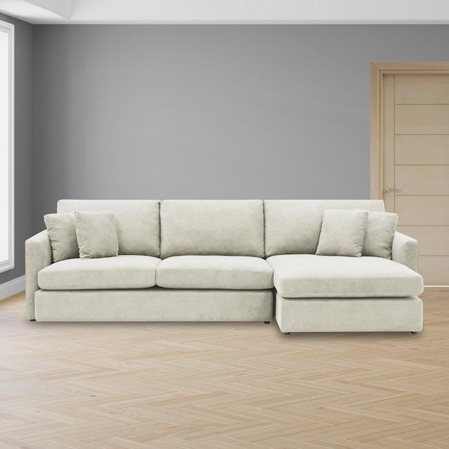 Ashley L-Shaped Lounge Sofa -Pearl - 1