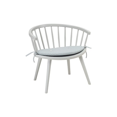 Molly Lounge Chair with Seat Cushion - White, Mint Green
