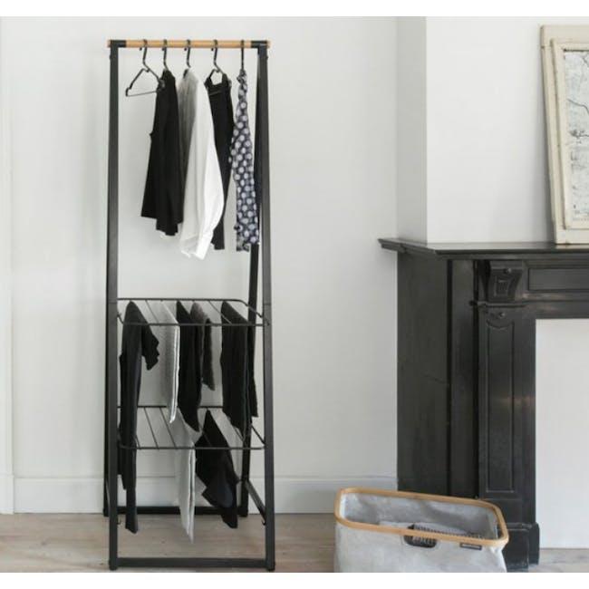 Linn Clothes Rack Small - Black - 1
