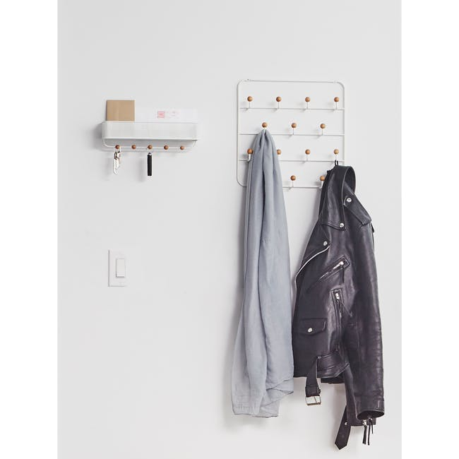 Estique Over-the-Door Organiser - White, Natural - 2