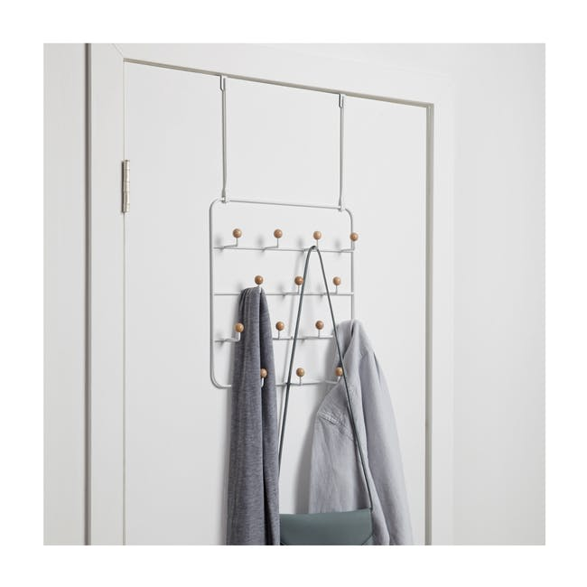 Estique Over-the-Door Organiser - White, Natural - 1