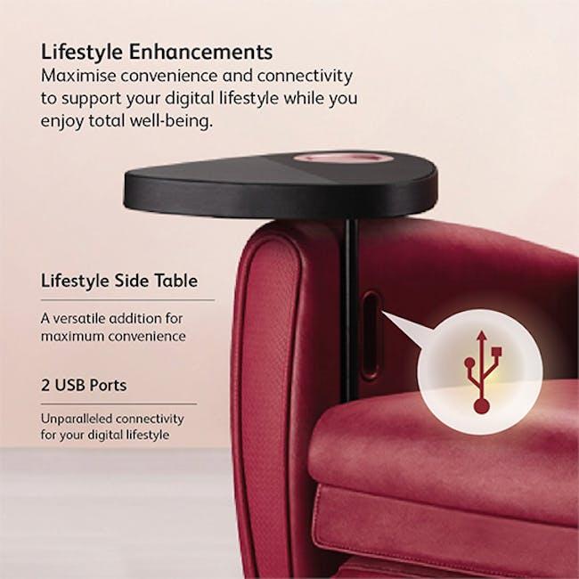 OSIM uDiva 2 (Enhanced with Side Table) Massage Sofa - Maroon - 1