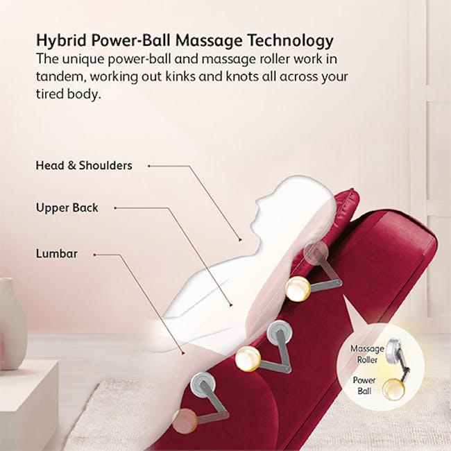 OSIM uDiva 2 (Enhanced with Side Table) Massage Sofa - Maroon - 2