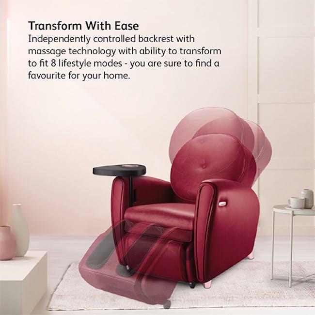 OSIM uDiva 2 (Enhanced with Side Table) Massage Sofa - Maroon - 3