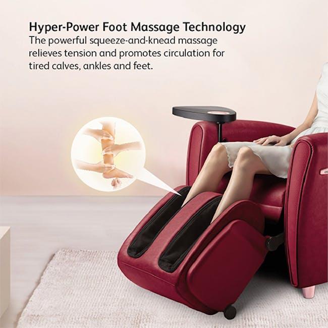 OSIM uDiva 2 (Enhanced with Side Table) Massage Sofa - Maroon - 4
