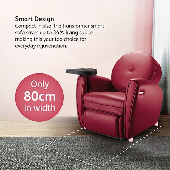 OSIM uDiva 2 (Enhanced with Side Table) Massage Sofa - Maroon - 6