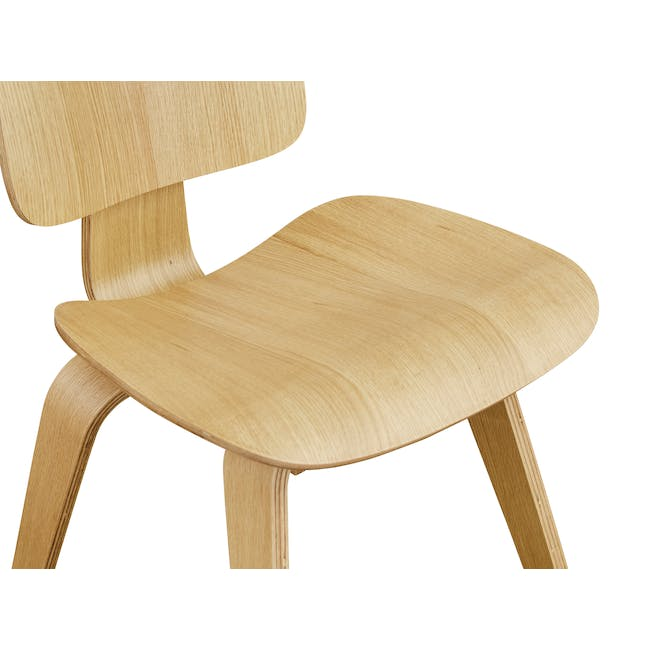 Eames Molded Plywood Dining Chair Replica - Oak - 5