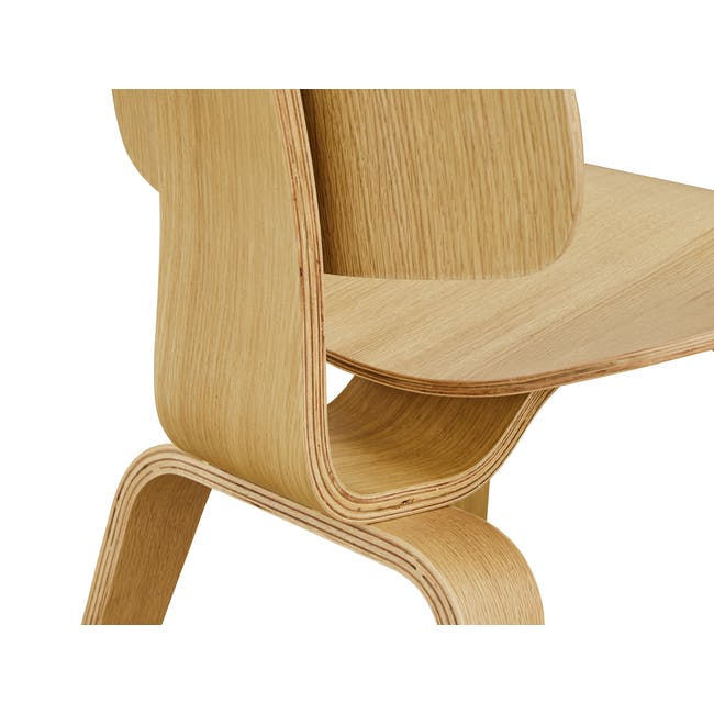 Eames Molded Plywood Dining Chair Replica - Oak - 4