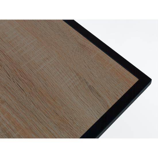Glass and Metal - Dana Carry Side Table - Walnut