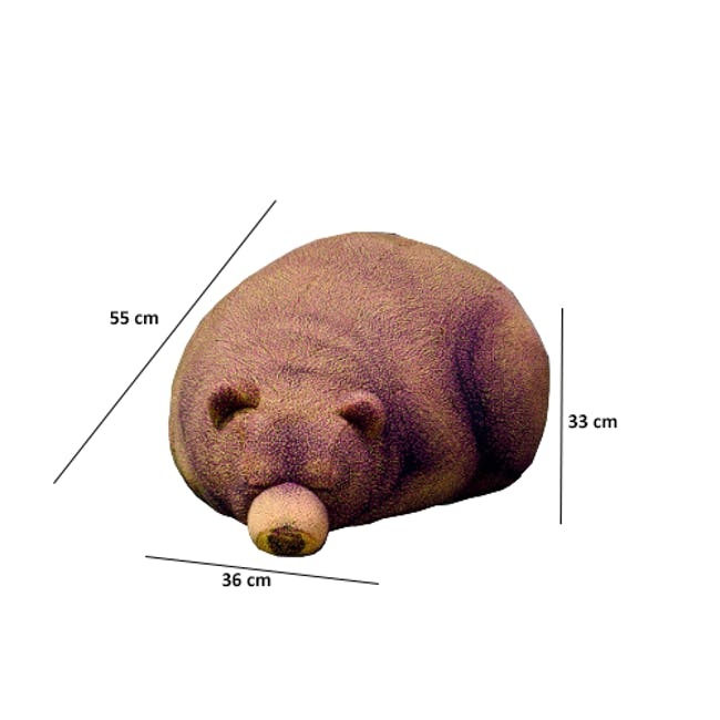 The Sleeping Grizzly Cub Bean Bag - 4
