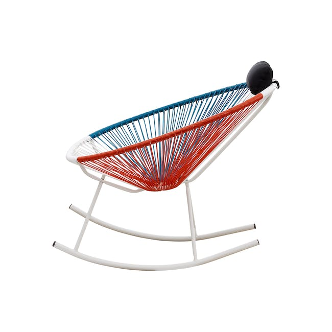Acapulco Rocking Chair - Blue, White, Red Mix - 2