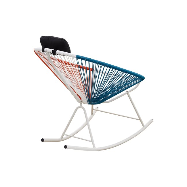 Acapulco Rocking Chair - Blue, White, Red Mix - 3