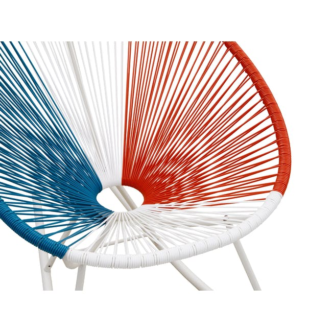 Acapulco Rocking Chair - Blue, White, Red Mix - 4
