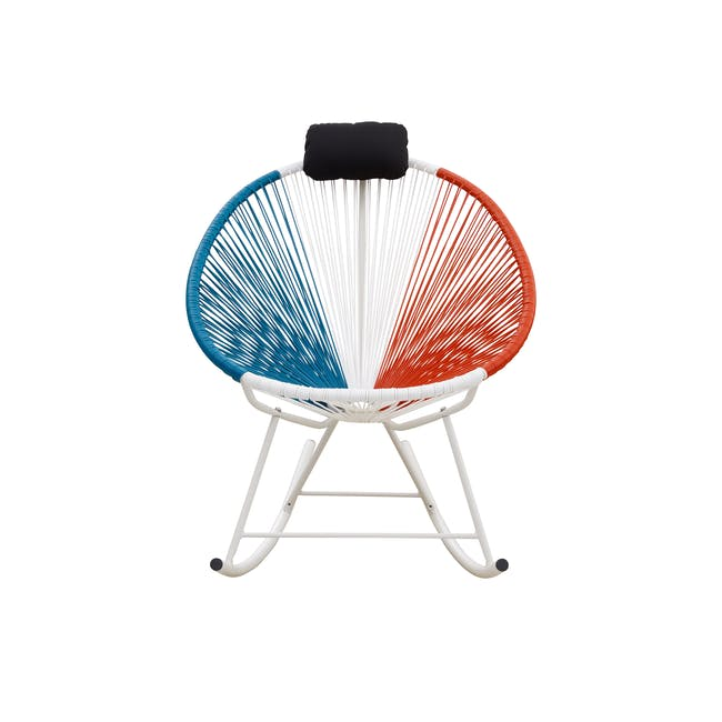 Acapulco Rocking Chair - Blue, White, Red Mix - 0