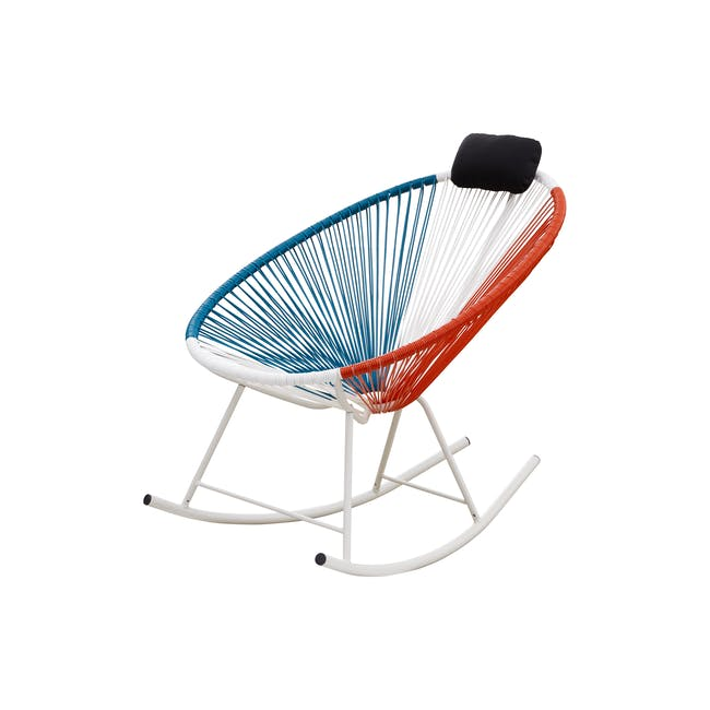 Acapulco Rocking Chair - Blue, White, Red Mix - 1