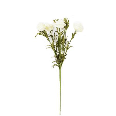 Faux White Roses Pot Set - Image 2
