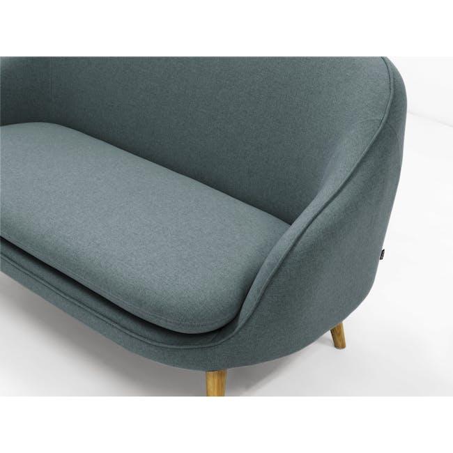 Quinn 2 Seater Sofa with Quinn Armchair - Marble Blue - 7